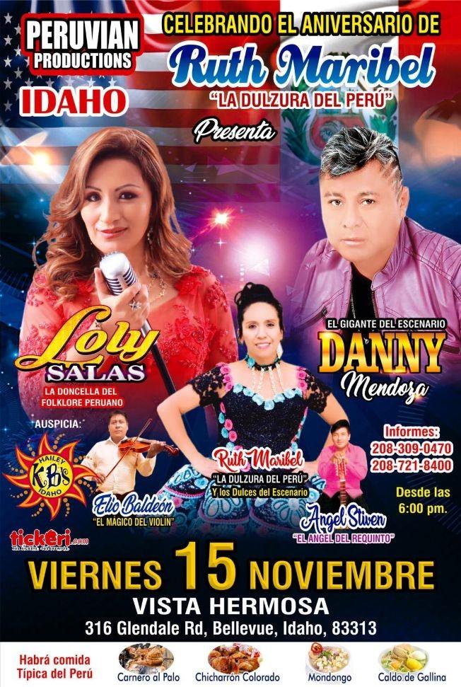 Flyer for Celebrando El Aniversario De Ruth Maribel ,Con Danny Mendoza y Loly salas en Bellevue ,ID