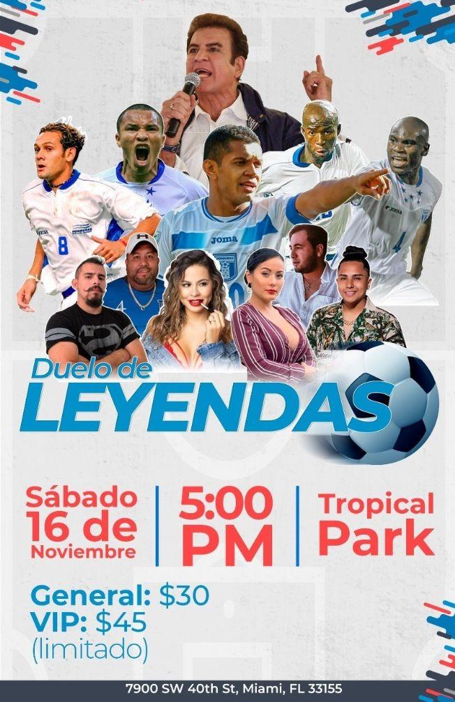 Flyer for Duelo de Leyendas