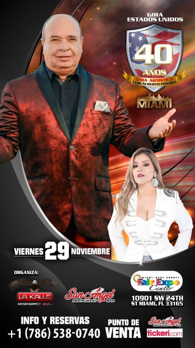 Flyer for Luis Alberto Posada Y Francy En Concierto En Miami,FL