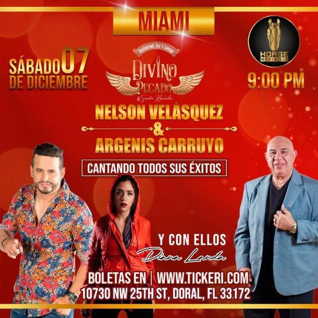 Flyer for Argenis Carruyo, Jose Luis Carrascal + Diana Landa