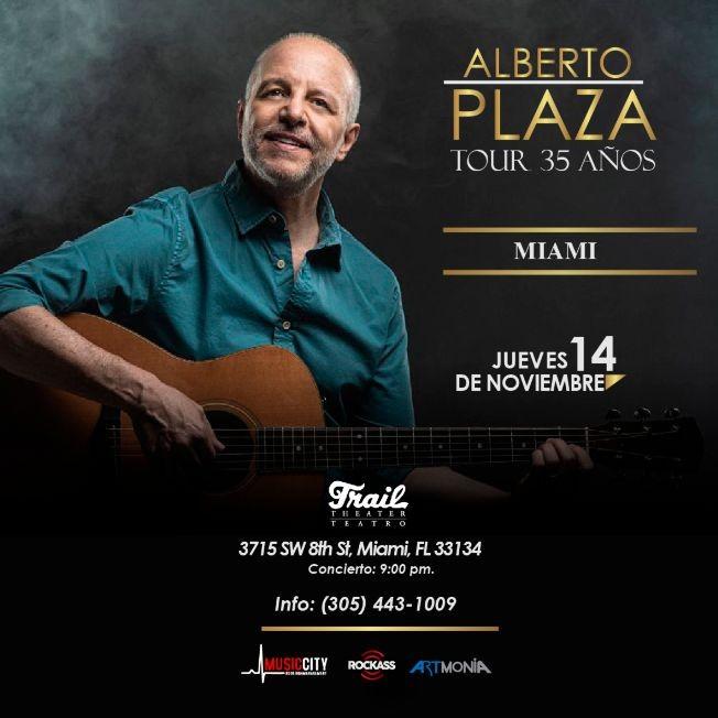 Flyer for Alberto Plaza en Concierto Miami