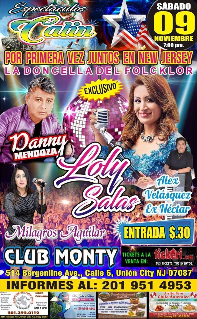 Flyer for Loly Salas & Danny Mendoza en Union City,NJ