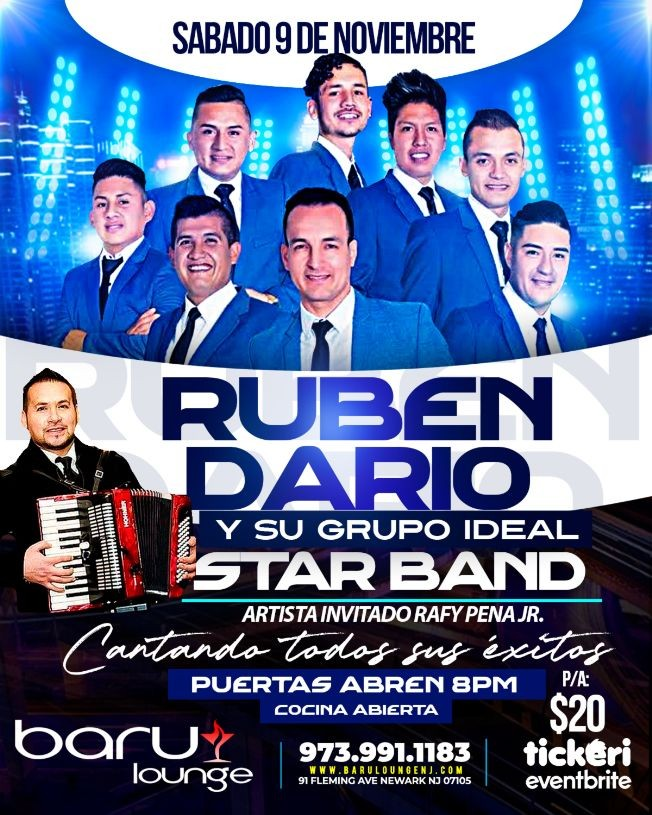Flyer for RUBEN DARIO Y SU GRUPO IDEAL STAR BAND