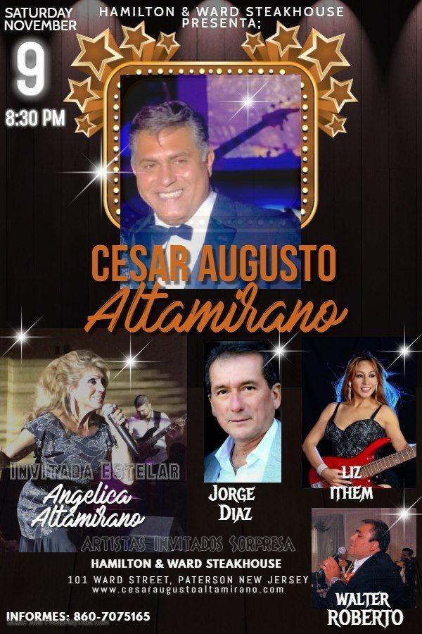 """Flyer for Cesar Augusto ALTAMIRANO - Presenta el show """"Mi Alma Latina te canta"""""""