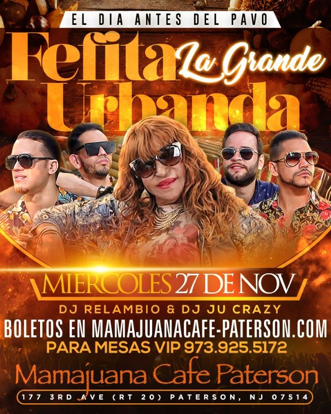 Flyer for Fefita La Grande y Urbanda