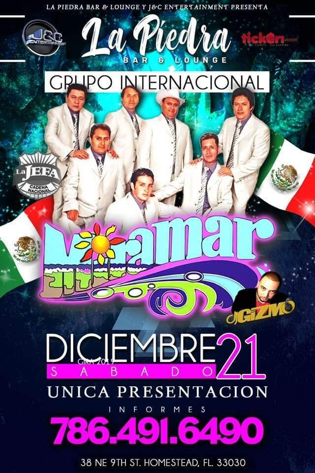 Flyer for Grupo Miramar En Vivo