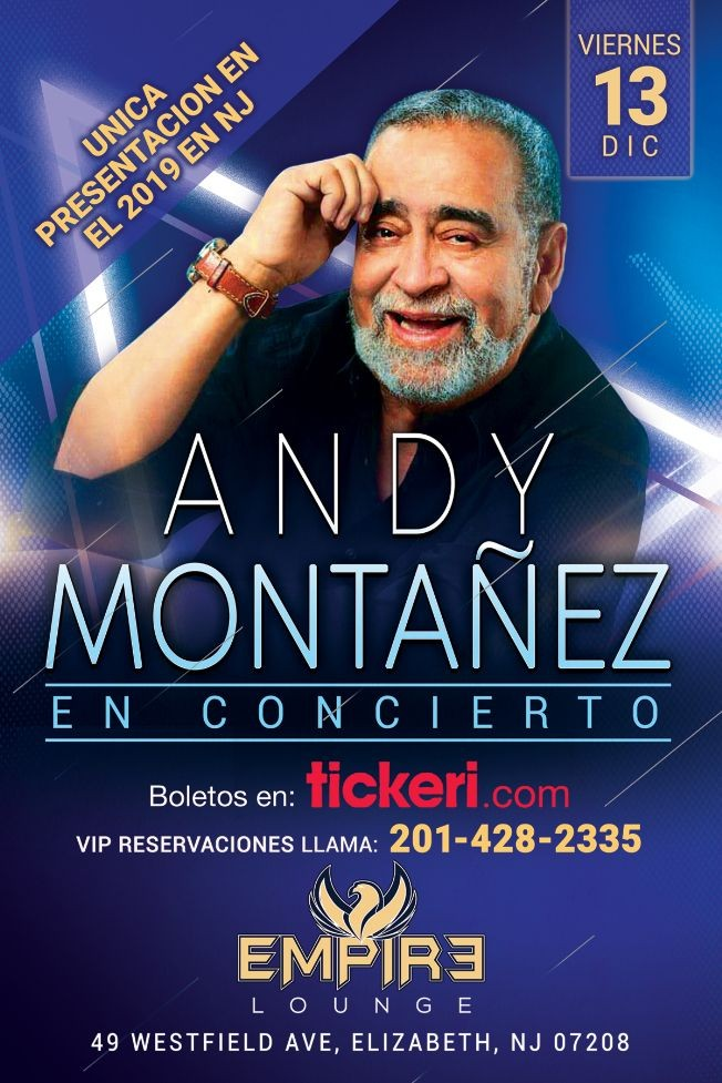 Flyer for Andy Montanez LIVE at Empire Lounge!