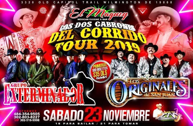 Flyer for GRUPO EXTERMINADOR VS LOS ORIGINALES