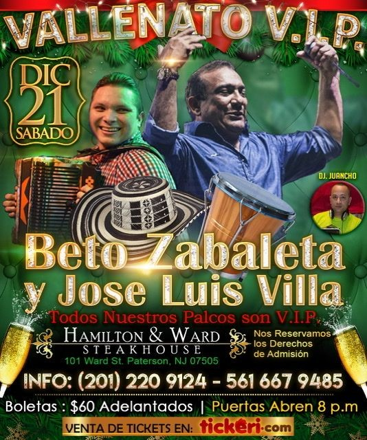 Flyer for Beto Zabaleta y Jose Luis Villa-CANCELADO