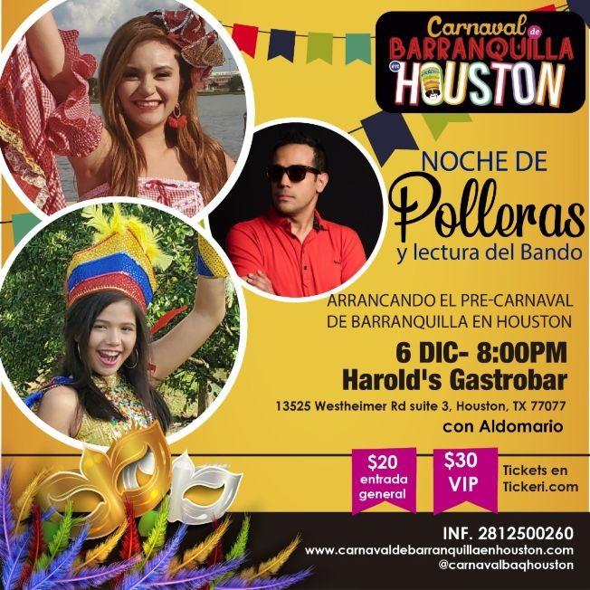 Flyer for Noche de pre-carnaval con Aldomario