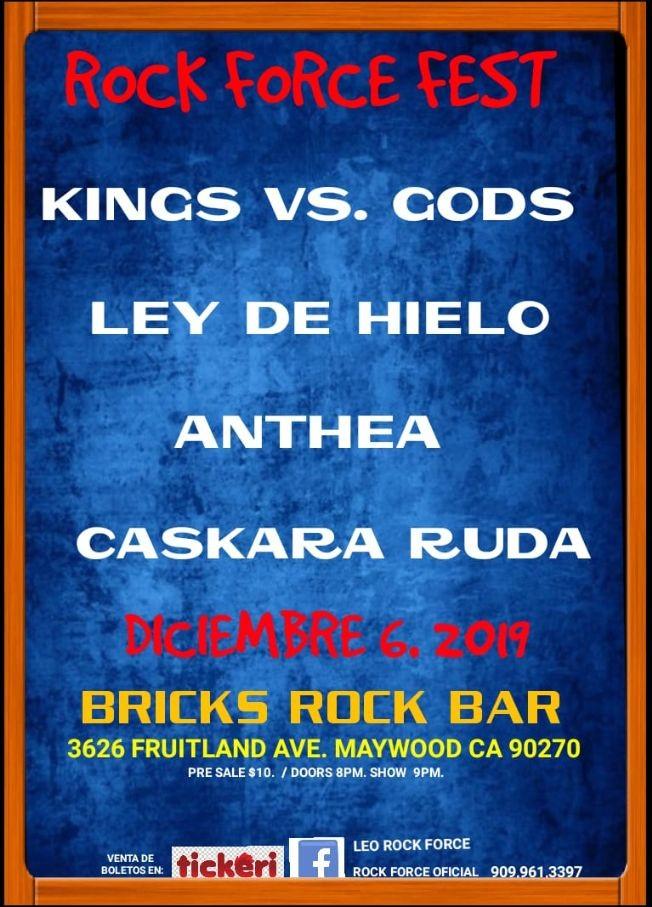 Flyer for Rock Force Fest 2019 En Maywood,CA