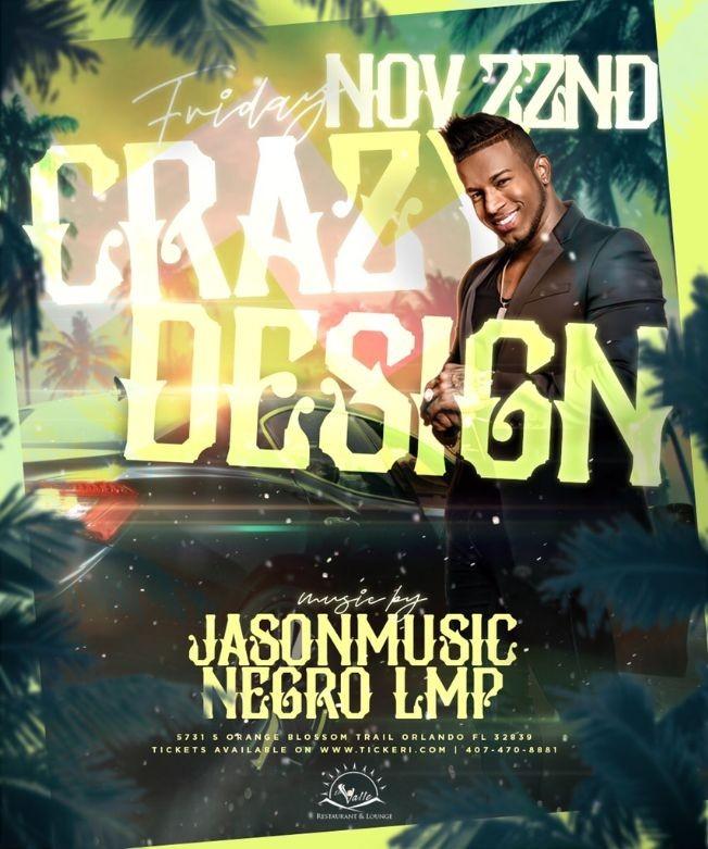 Flyer for Crazy Design En Concierto
