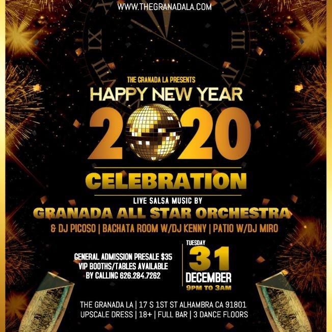 Flyer for New Years Eve Celebration - Salsa & Bachata Nightclub