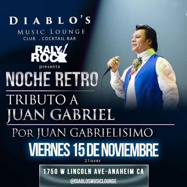 Flyer for TRIBUTO A JUAN GABRIEL EN VIVO POR JUAN GABRIELISIMO  ADEMAS VICENTE FERNANDEZ TRIBUTO POR ALEJANDRO GONZALES
