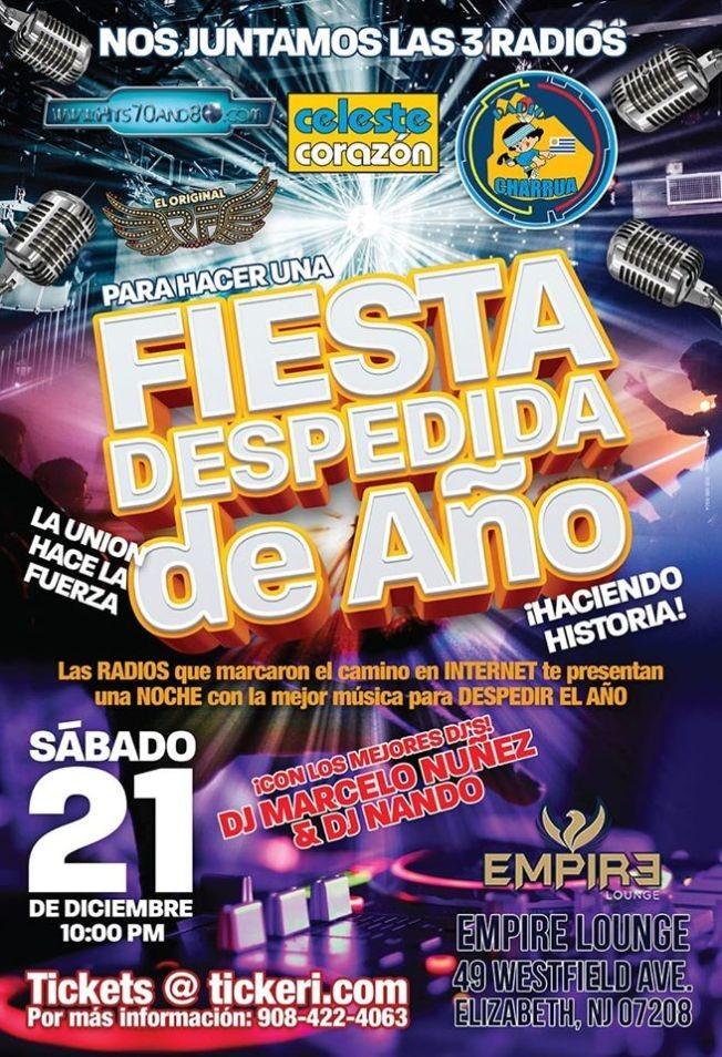 Flyer for La Fiesta de las 3 Radios Uruguayas