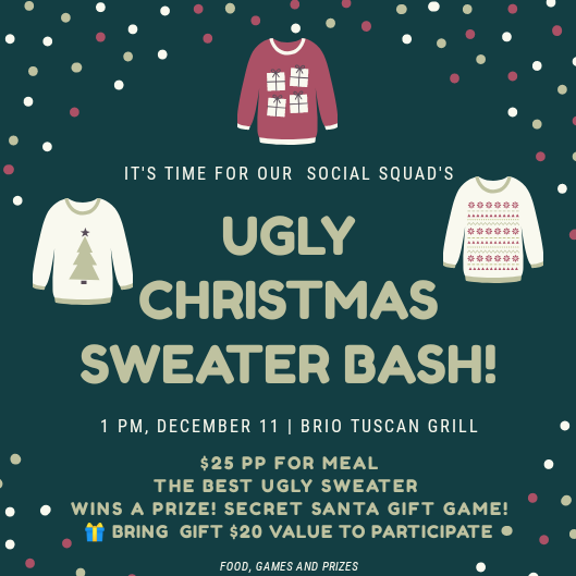 Flyer for 🎄Ugly Christmas Sweater Bash🎄