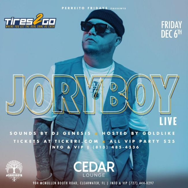 Flyer for Jory Boy Live in Clearwater
