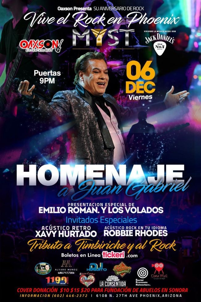 Flyer for Homenaje  A Juan Gabriel En Phoenix,AR