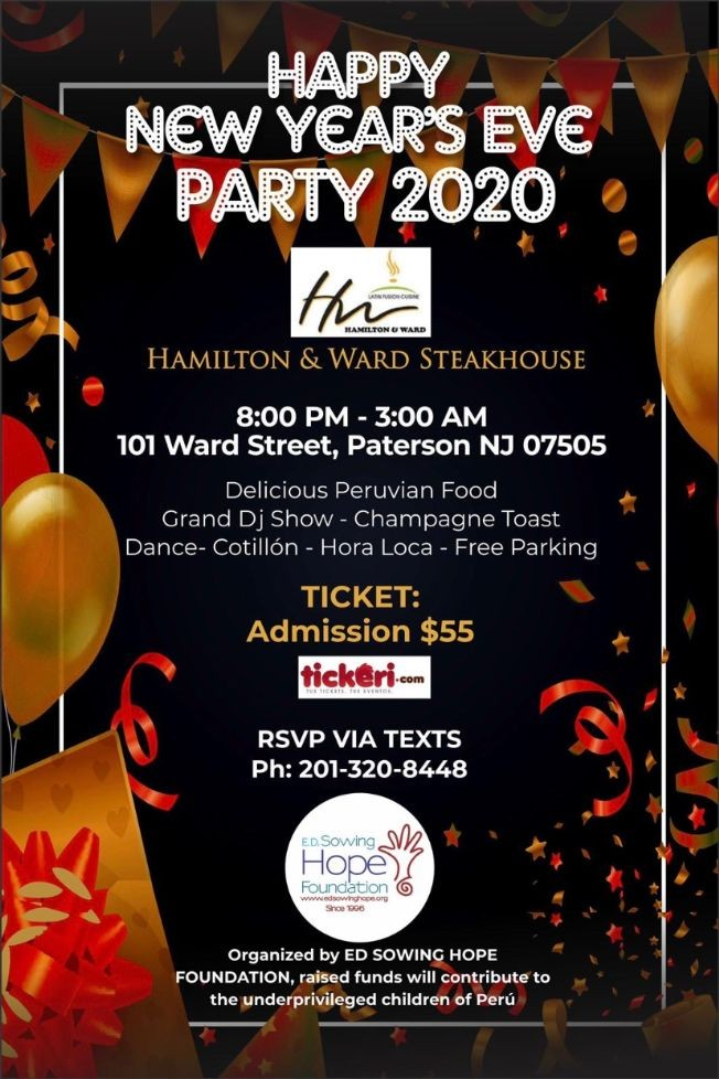 Flyer for New Year's Eve Party 2020