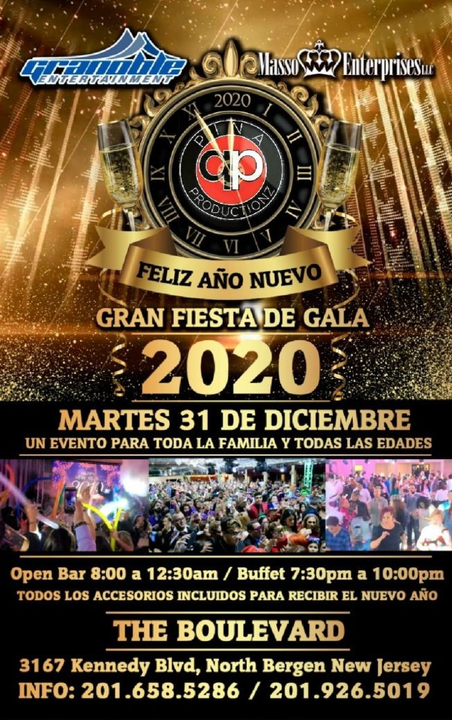 Flyer for CENA DE GALA BAILABLE 2020