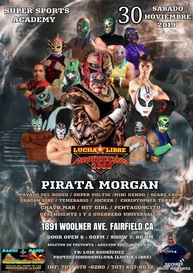 Flyer for Lucha Libre Mexicana en Fairfield,CA