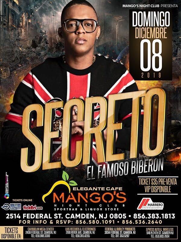 Flyer for Secreto 'El Famoso Biberon' En Vivo!
