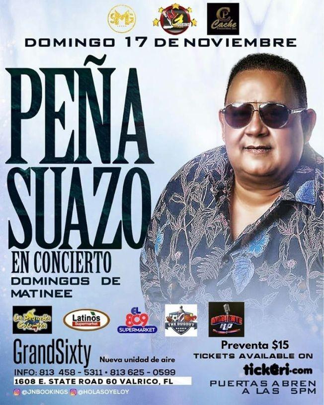 Flyer for Peña Suazo En Concierto