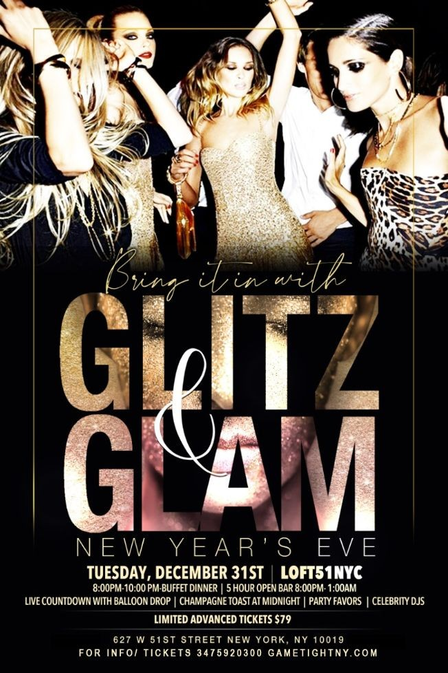 Flyer for Loft 51 NYC 5 Hour Openbar & Buffet NYE 2020