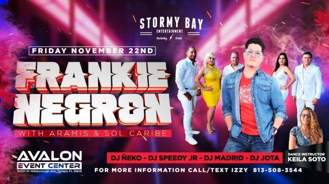 Flyer for Frankie Negron w/ Aramis y Sol Caribe