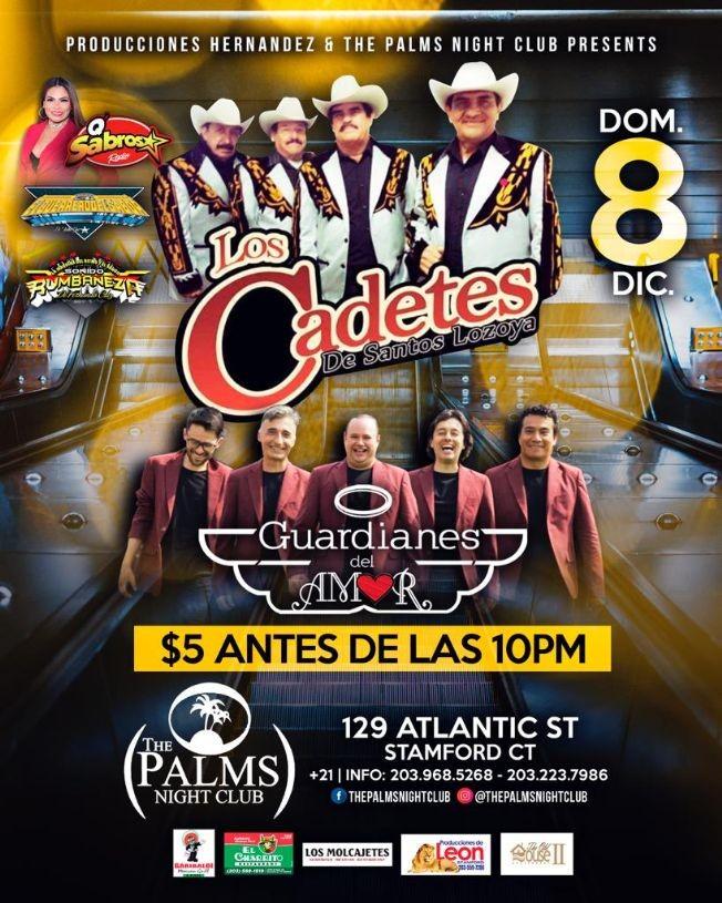 Flyer for Los Cadetes De Santos Lozoya y Guardianes Del Amor En Stamford,CT