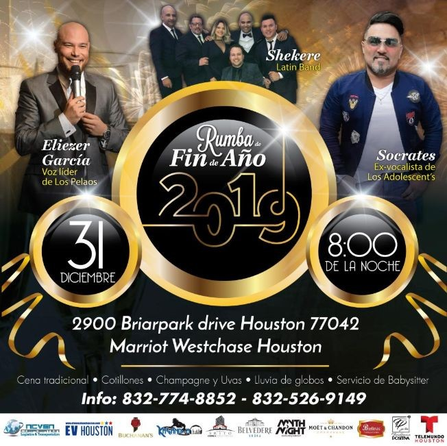 Flyer for Rumba de Fin De Año En Houston,TX
