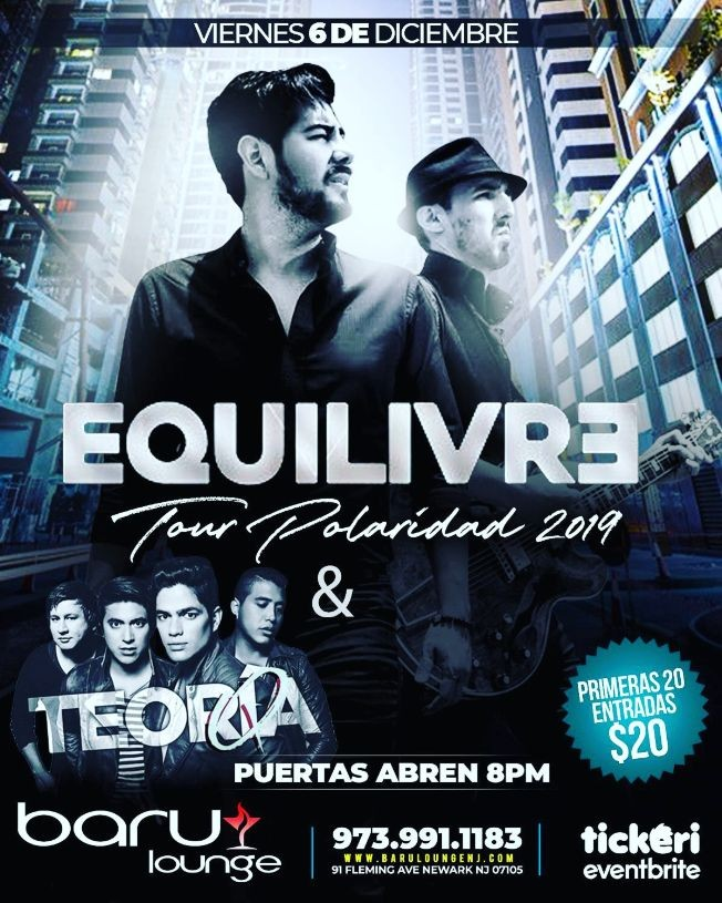 Flyer for Tour Polaridad 2019 Con Equilivre & Teoria Q En Newark,NJ