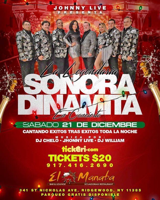 Flyer for LA SONORA. DINAMITA.