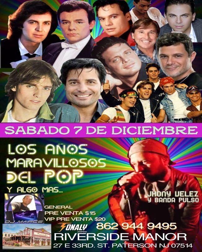 Flyer for LOS AÑOS MARAVILLOSOS DEL POP