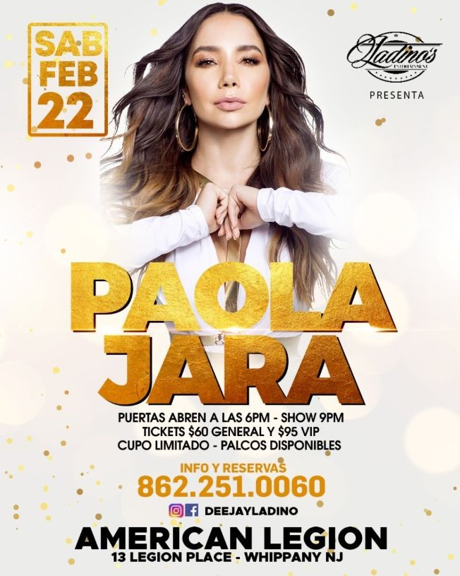 Flyer for PAOLA JARA CANCELED