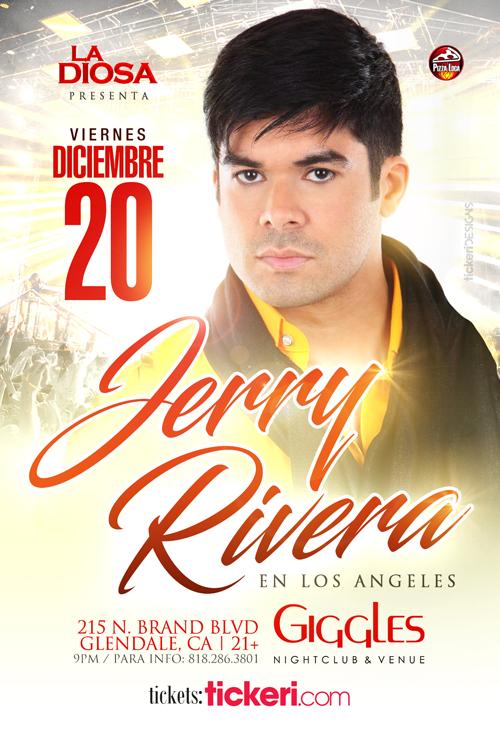 Flyer for JERRY RIVERA en Los Angeles