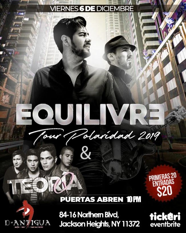 Flyer for Tour Polaridad 2019 Con Equilivre & Teoria Q En Jackson Heights,NY