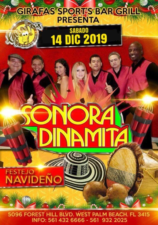 Flyer for Sonora Dinamita(Cumbia) en West Palm Beach