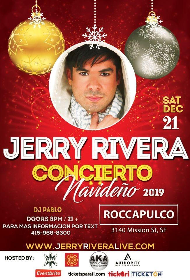 Flyer for Jerry Rivera Concierto Navideño En San Francisco,CA