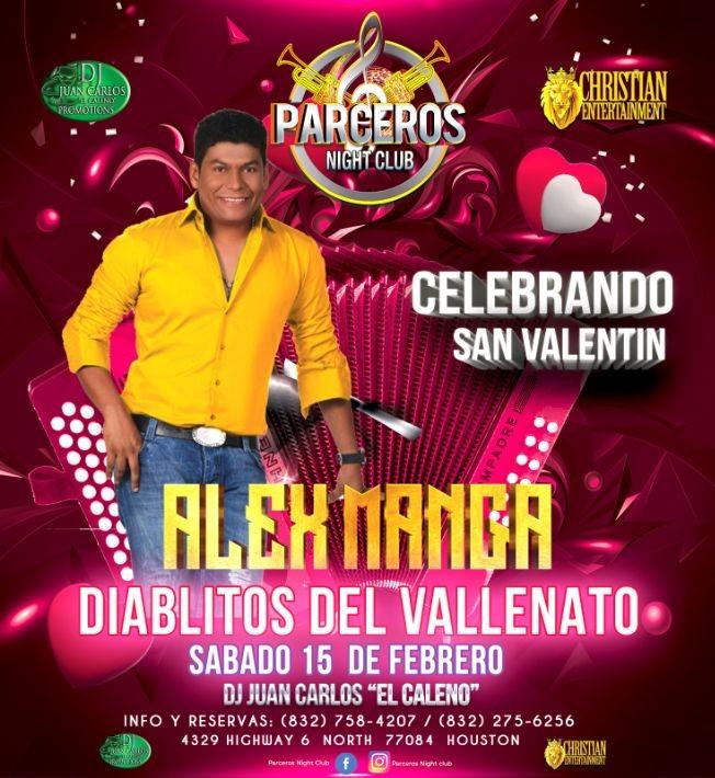 Flyer for ALEX MANGA LOS DIABLITOS DEL VALLENATO