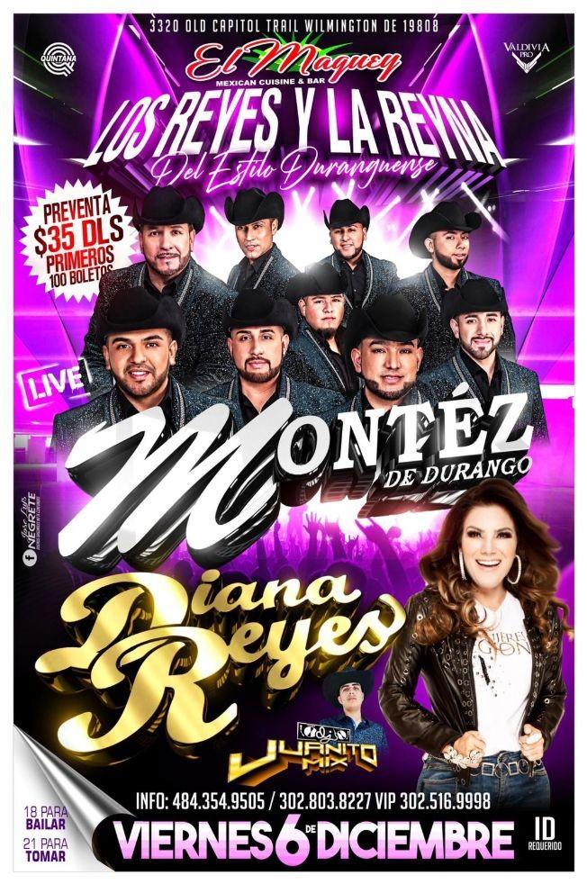 Flyer for Los Reyes y La Reina - Montez y Diana Reyes