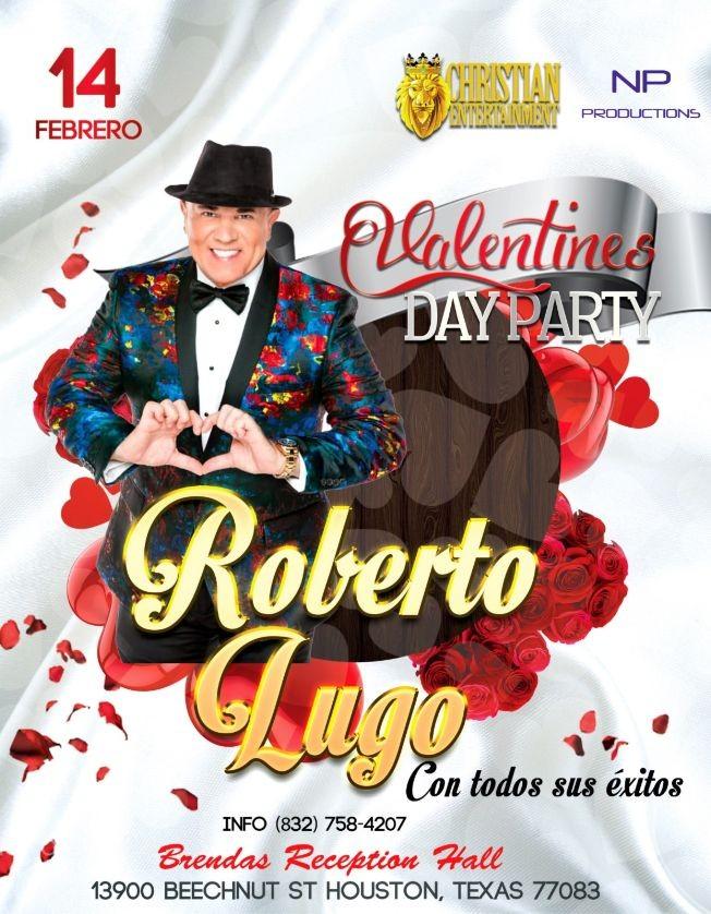 Flyer for ROBERTO LUGO Valentine's Day