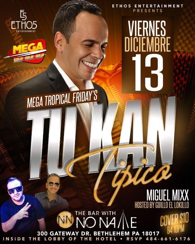 Flyer for Mega Tropical Friday's