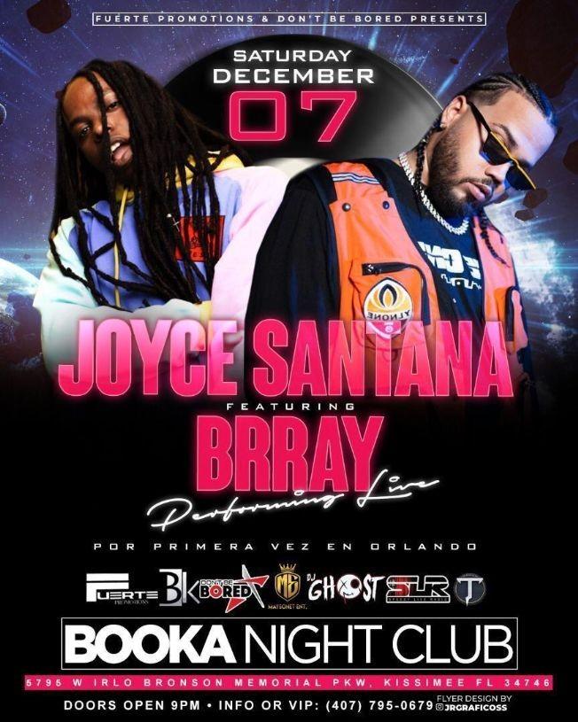 Flyer for Bray & Joyce Santana