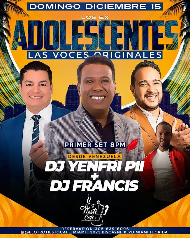 Flyer for Los Ex Adolescentes