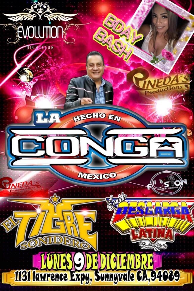 Flyer for Pedro Perea mix Sonido la conga