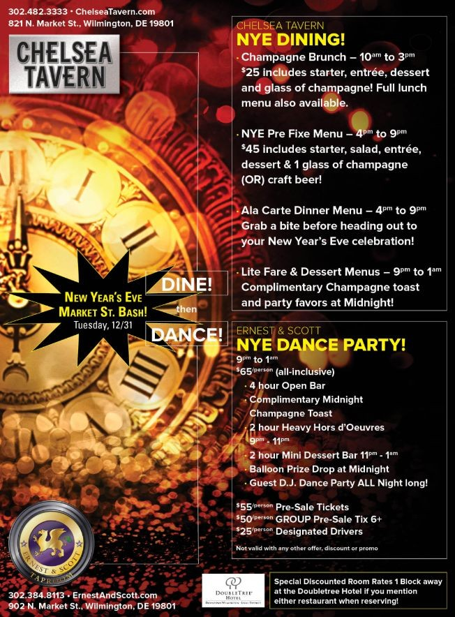 Flyer for New Years Eve Dance Party 2020