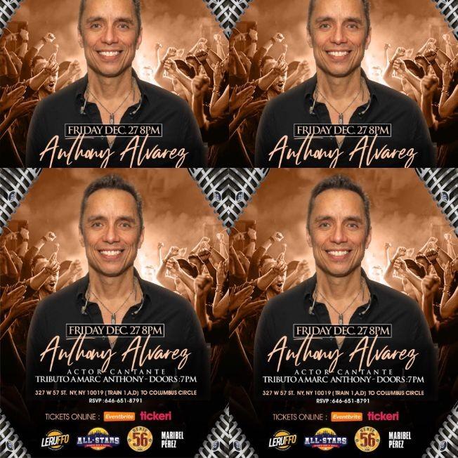 Flyer for MARC ANTHONY EL TRIBUTO BY ANTHONY ALVAREZ