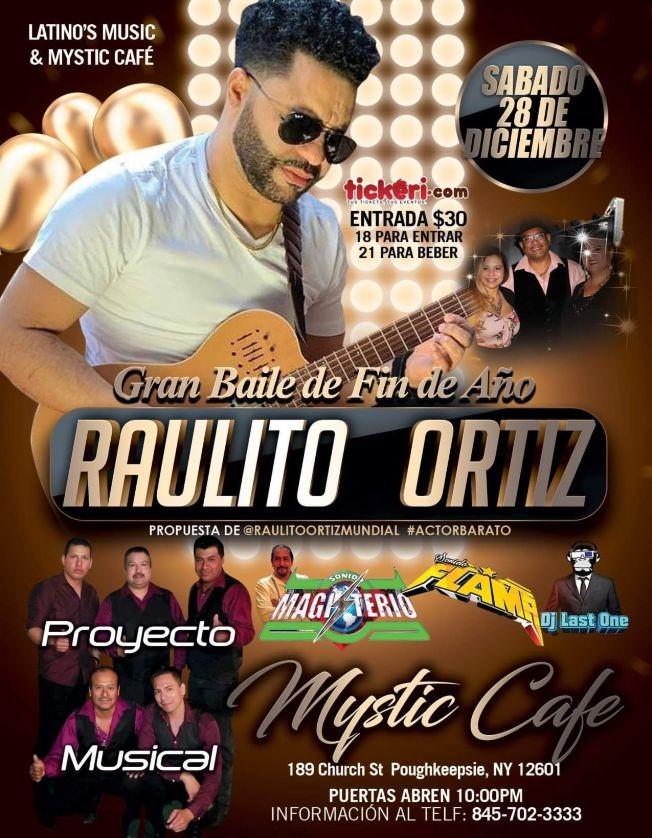 Flyer for Gran Baile de Fin de Año con Raulito Ortiz en Poughkeepsie,NY