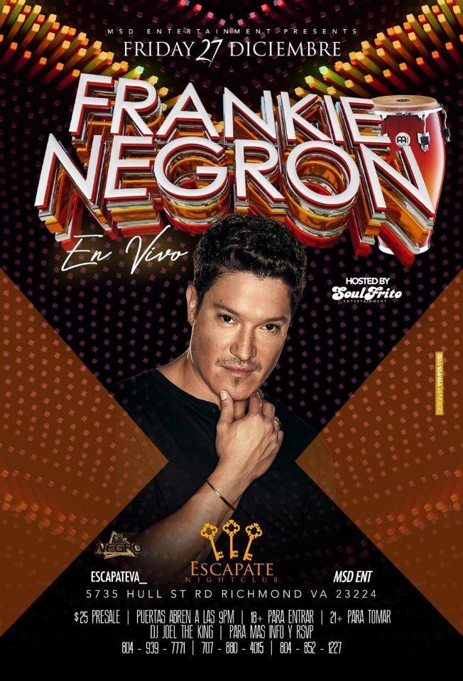 Flyer for Frankie Negron
